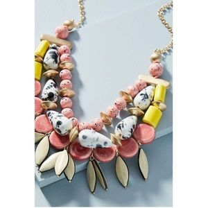 Anthropologie Beaded Bob Statement Necklace
